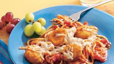 Baked Chicken Nugget Spaghetti