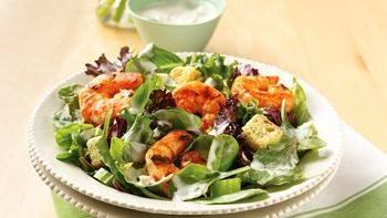 Grilled Buffalo Shrimp Salad