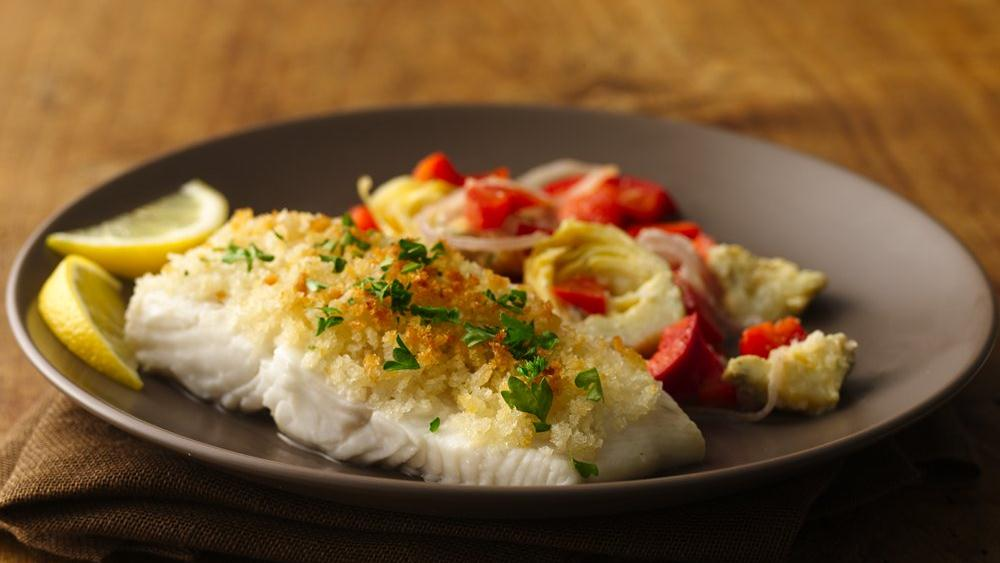 Scampi-Style Halibut