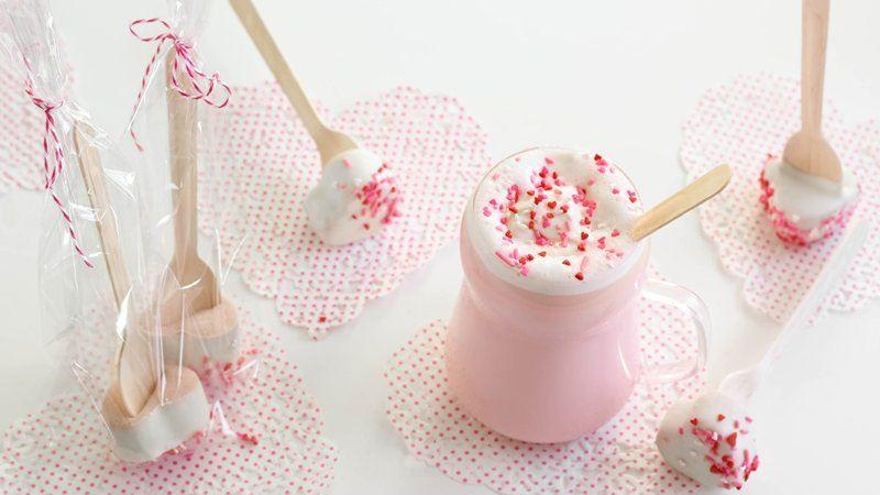 Strawberry Hot Cocoa-on-a-Stick