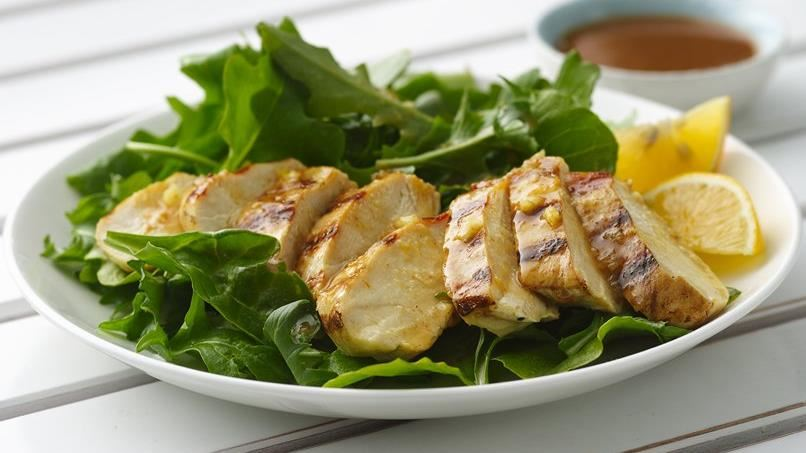 Chicken Breast Salad with Sesame Peanut Dressing