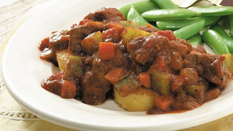 Beef Ragout on Polenta