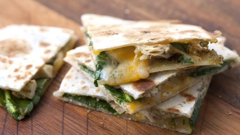 Chicken-Pesto Quesadillas