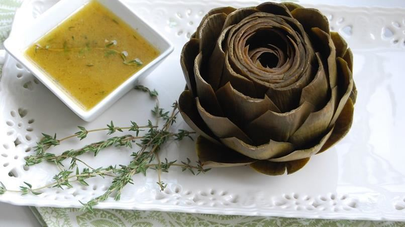 Whole Artichokes with Lemon-Thyme Dipping Sauce