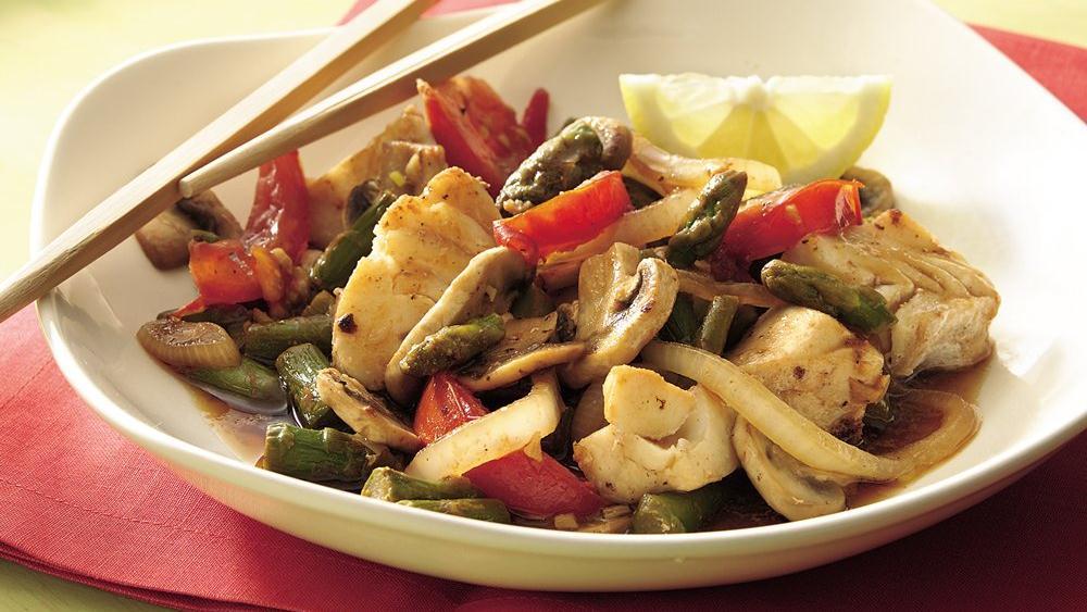 Halibut Asparagus Stir-Fry