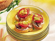 Garlic Beef Bruschetta