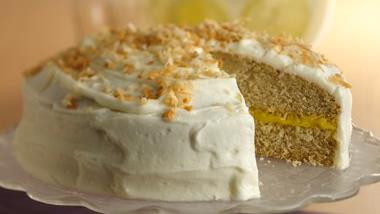 Lemon Filled Coconut Cake