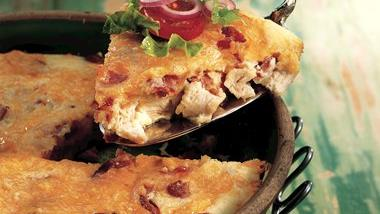 Impossibly Easy Turkey Club Pie