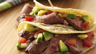 Steak Tacos with Avocado Salsa