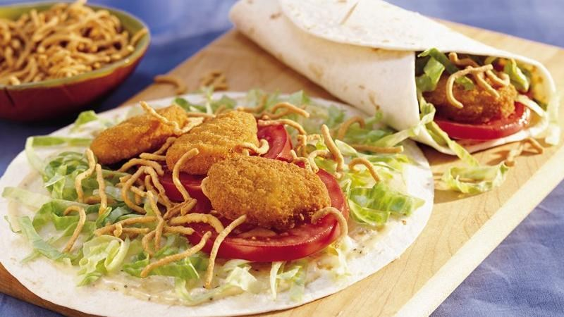 Crunchy Chicken Nugget Tacos