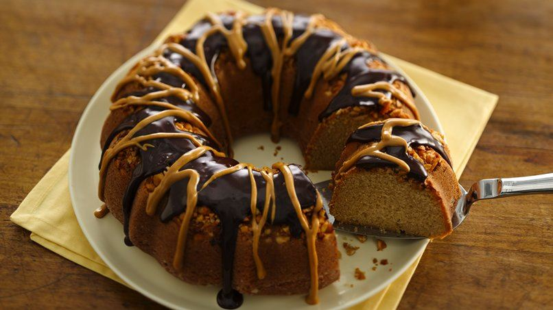 Crunchy-Topped Peanut Butter Cake