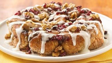 Mascarpone-Filled Cranberry-Walnut Rolls