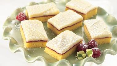 Lemon-Raspberry Cream Bars