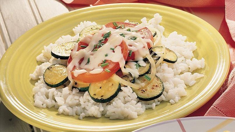 Tomato-Zucchini Stir-Fy