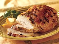 Grilled Turkey Breast with Lemon and Basil