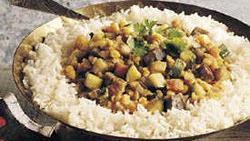 Spicy Split Peas with Vegetables