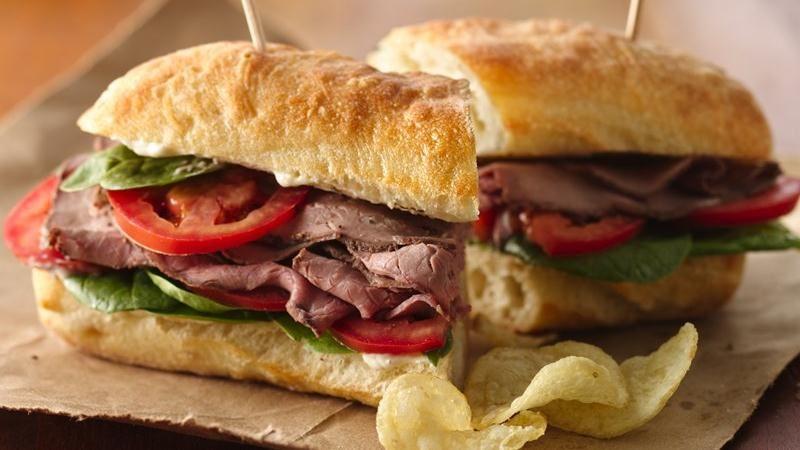 Garlic-Beef Sandwiches