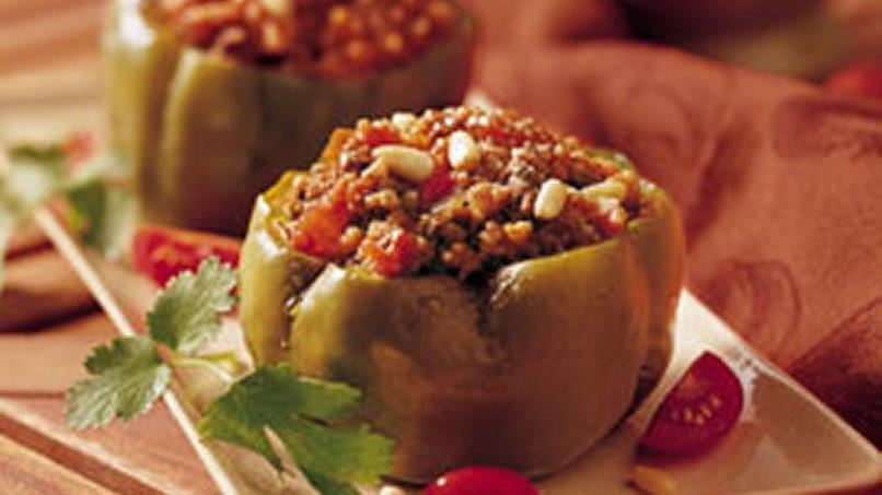 Slow-Cooker Couscous-Stuffed Peppers (Cooking for 2)