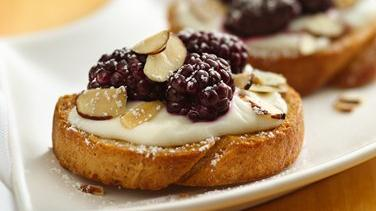 Blackberry-Almond Bruschetta