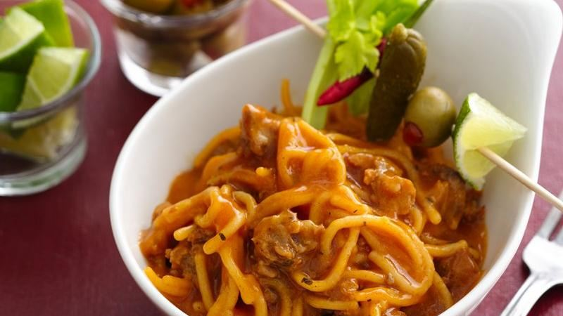 Bloody Mary Spaghetti Bowls