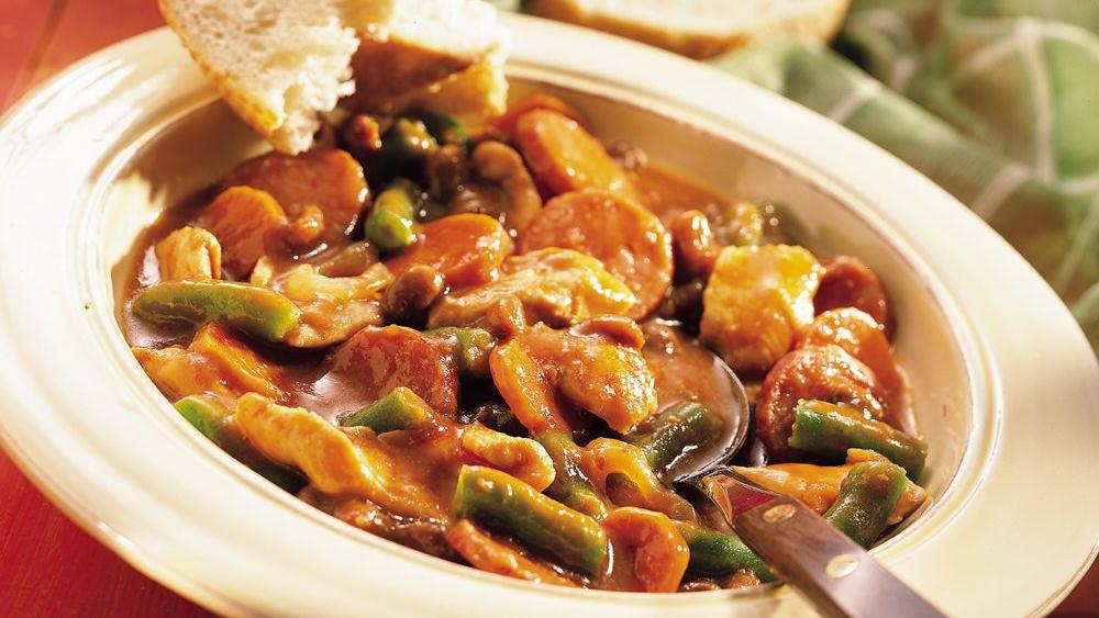 Slow-Cooked Chicken and Sausage Stew