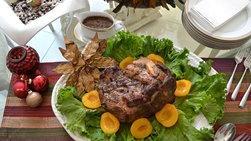 Paleta de Cerdo en Salsa de Vino Tinto y Naranja