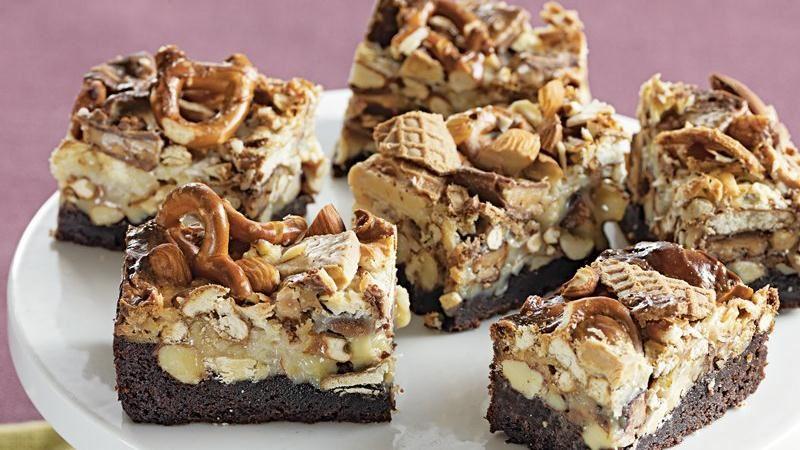 Seven Layer Brownie Bites