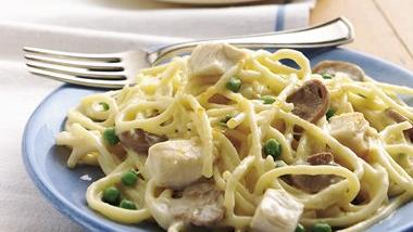 Chicken Tetrazzini with Peas
