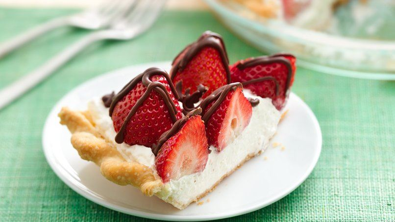 Strawberries and Cream Pie