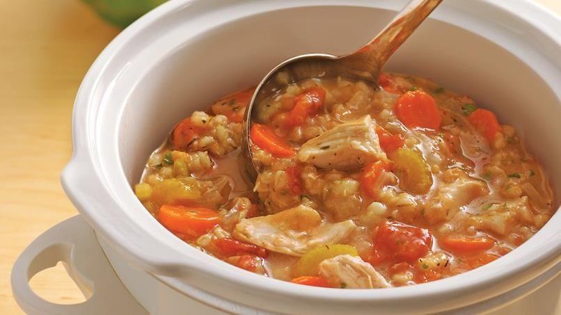Slow-Cooker Chicken-Barley Stew