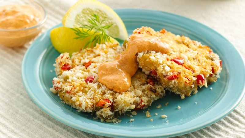 Baked Crab Cakes with Remoulade recipe from Betty Crocker