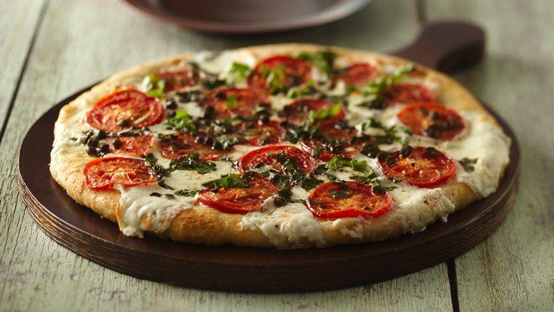 Fresh Mozzarella and Tomato Pizza