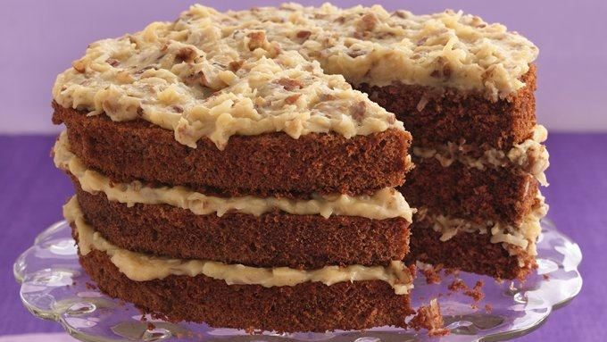 German Chocolate Cake with Coconut-Pecan Frosting recipe - from ...