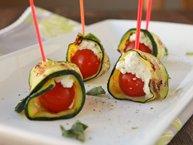 Grilled Zucchini Ribbon Roll-Ups