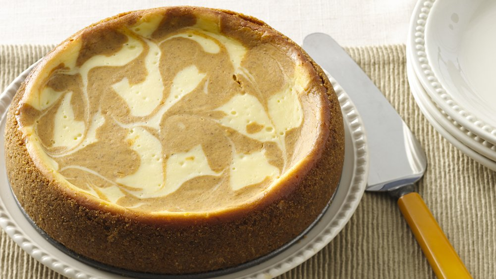 Slow-Cooker Pumpkin Swirl Cheesecake