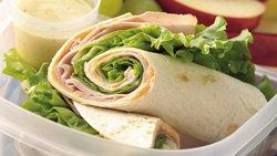 Turkey Tortilla Roll-Ups with Dip