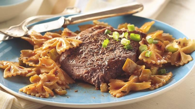 Peppered Beef with Pasta