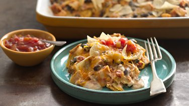 Gluten-Free Cheesy Chicken Enchilada Casserole