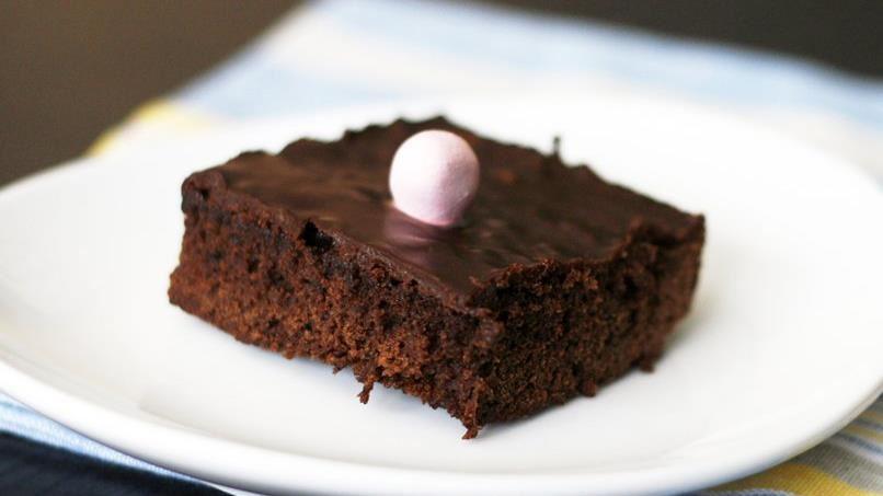 Decadent Dark Chocolate Easter Brownies