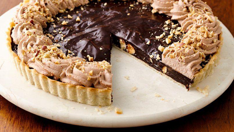 Decadent Chocolate Hazelnut Tart