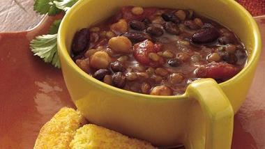 Slow-Cooker Three-Bean Chili