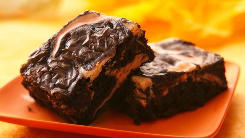 Scream! Cheese Swirl Brownies