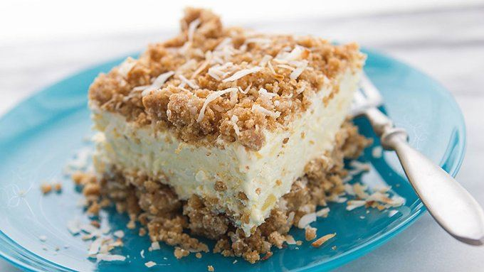 pina colada crunch cake recipe from tablespoon