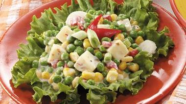 Crunchy Corn and Pea Salad