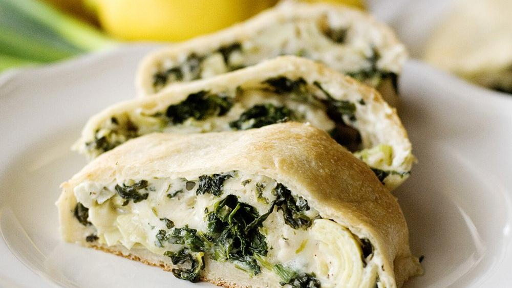 Spinach and Artichoke Stuffed Bread
