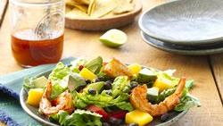 Shrimp and Mango Taco Salads