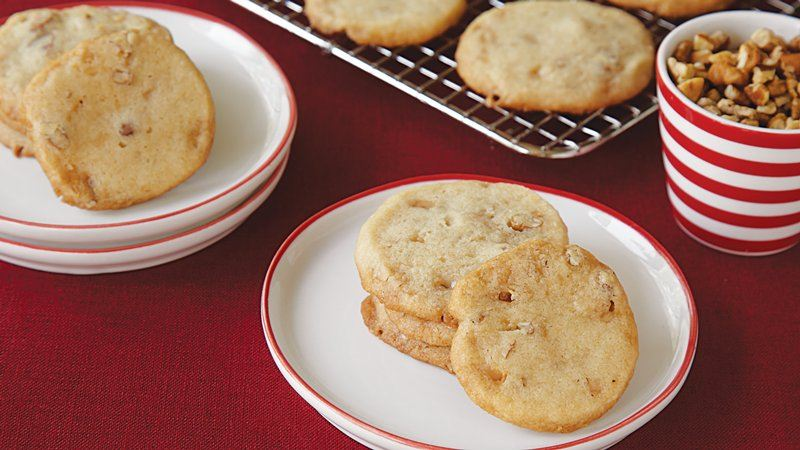 Toffee Pecan Icebox Cookies