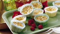 Mini Almond Cheesecakes