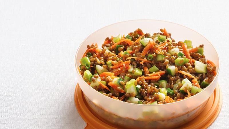 Sesame-Wheat Berry Salad
