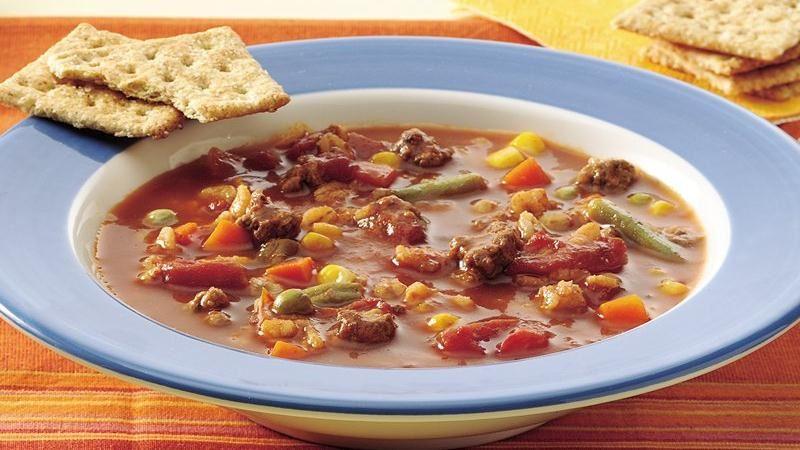 Vegetable-Beef-Barley Soup